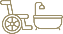 Accessible bath icon