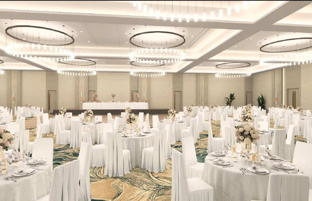 The spacious Juniper ballroom at hotel effie.