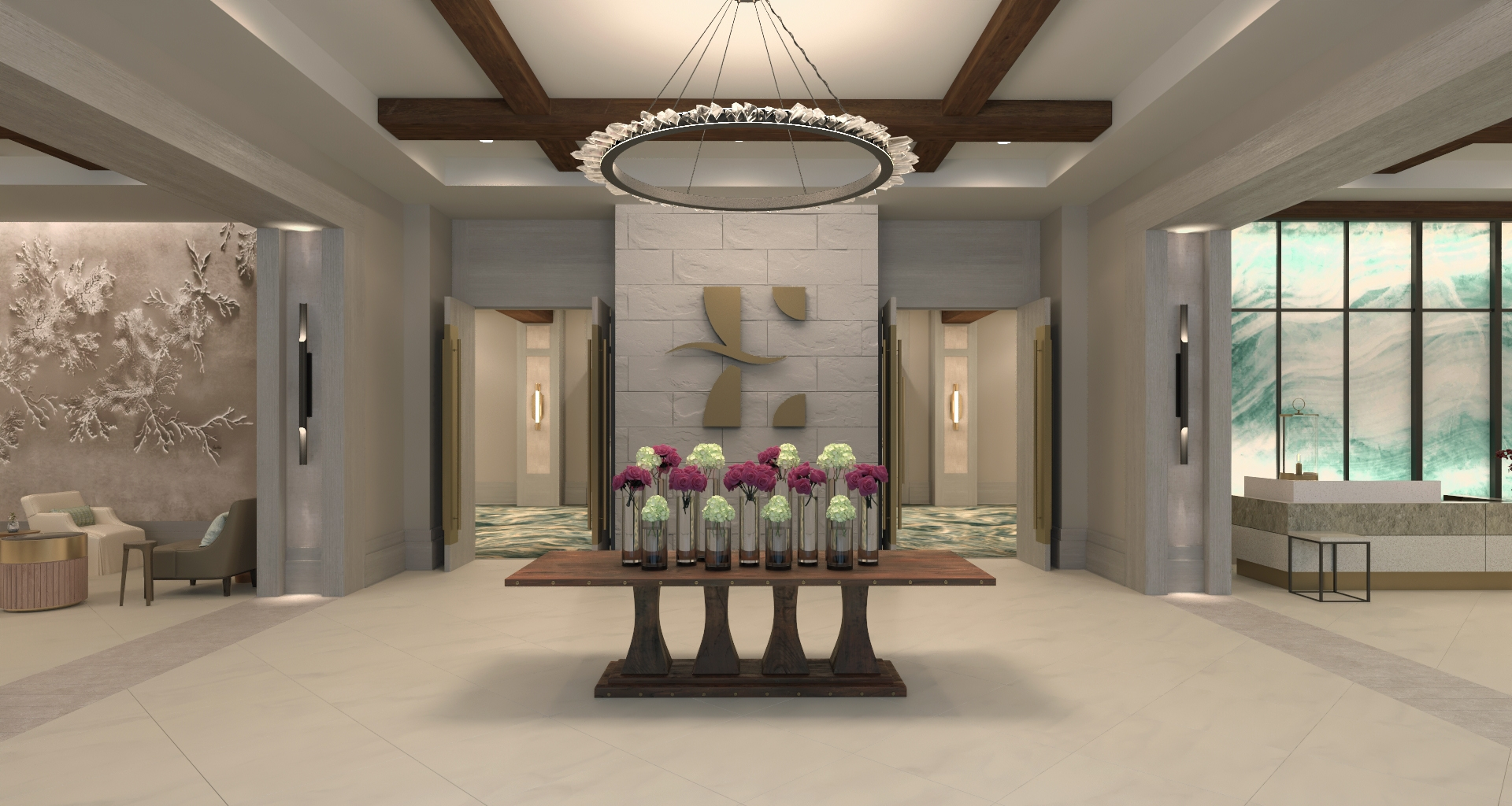 The main foyer at Hotel Effie