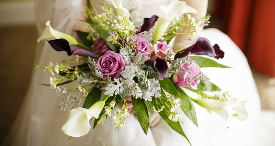 A stunning wedding bouquet