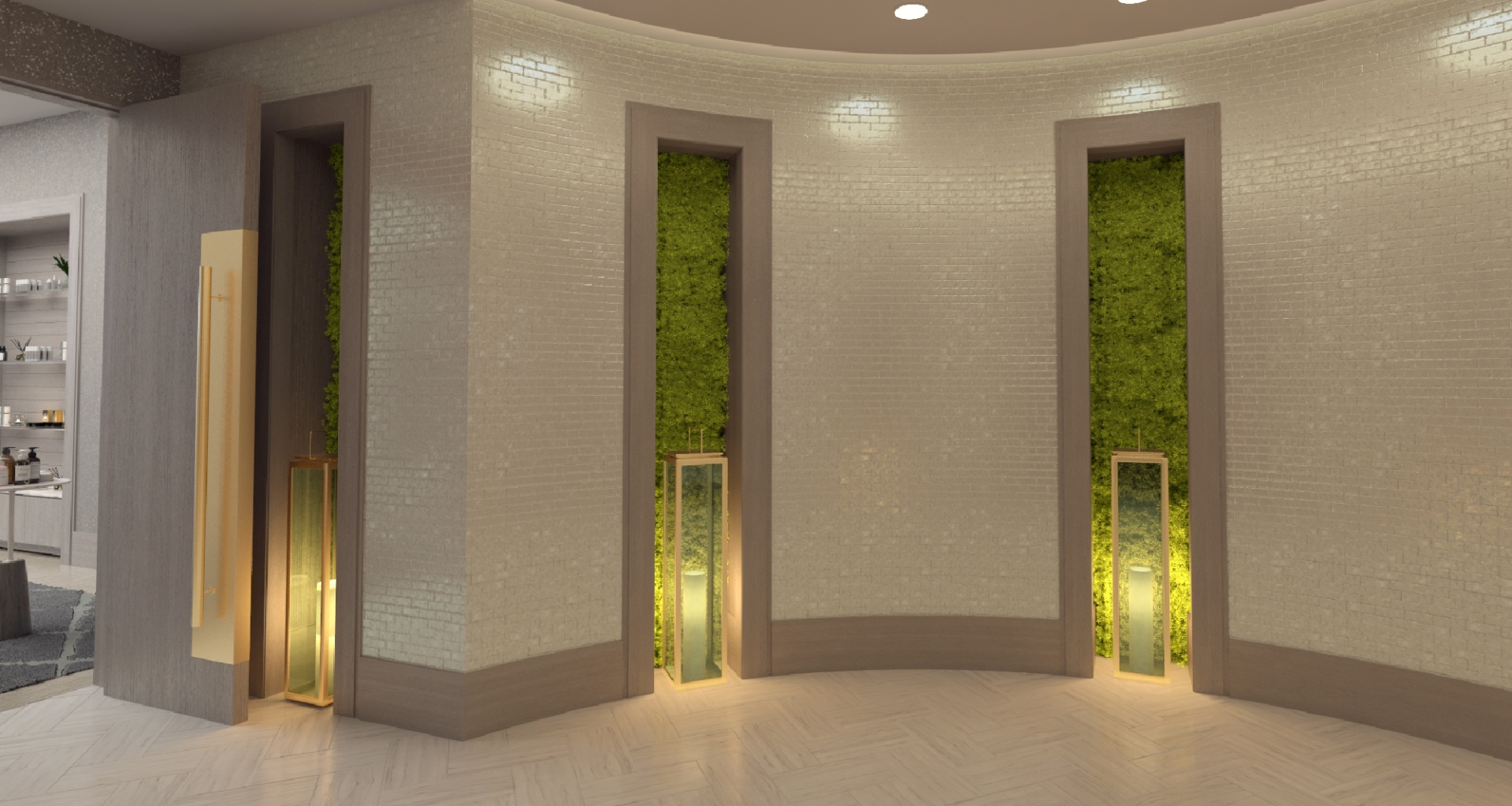 Living walls line the entranceway to Spa Lilliana at Hotel Effie