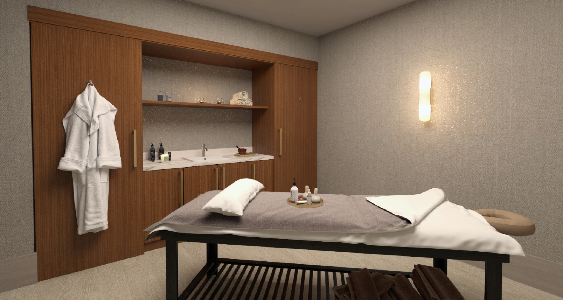 Treatment room at spa lilliana at hotel effie