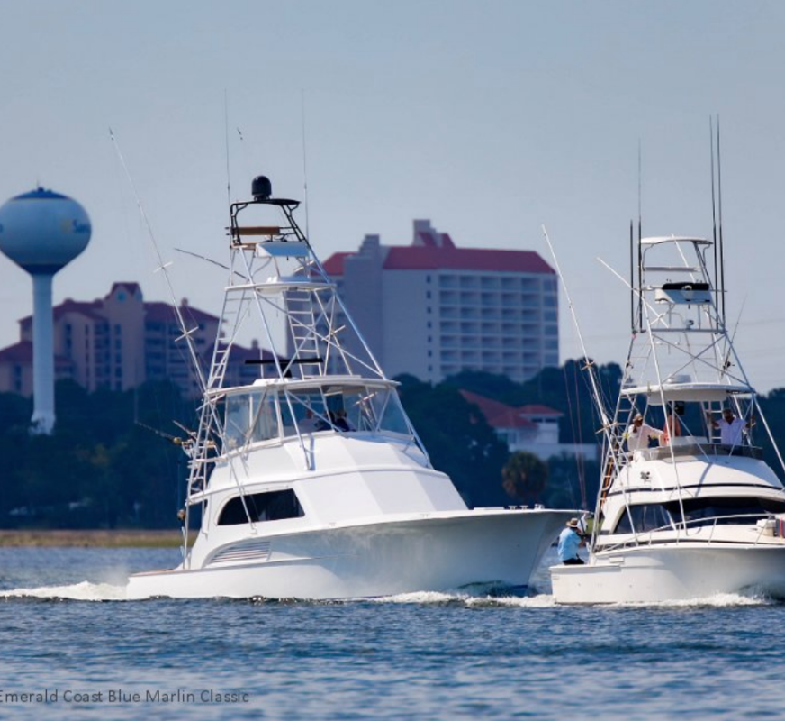 Two fishing boats at the Emerald Coast Blue Marlin Classic