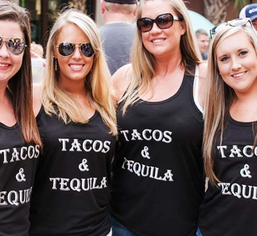 girls in tacos and tequila shirts