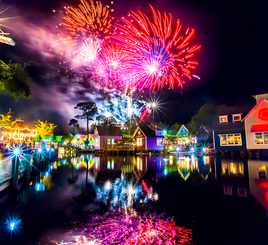 fireworks over lagoon